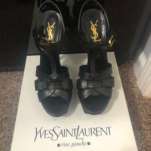 YSL black pumps